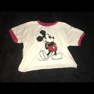 Brandy Melville Mickey Mouse Crop Top